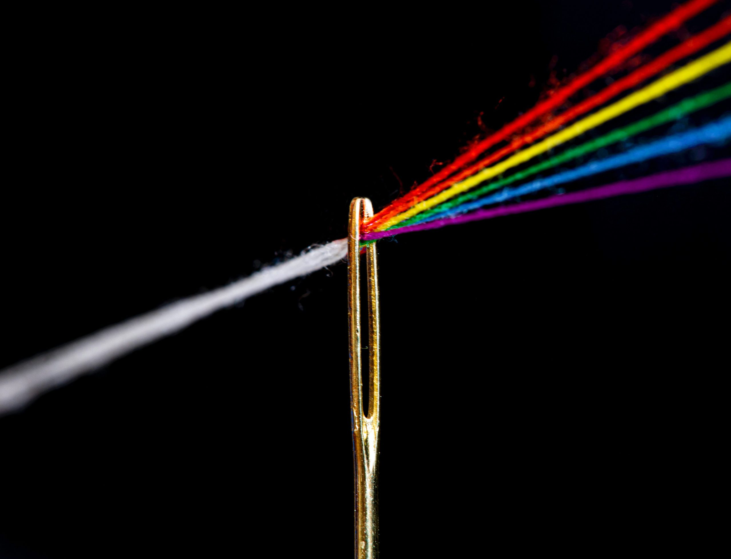 Prismatic needle. Pink floyd logo